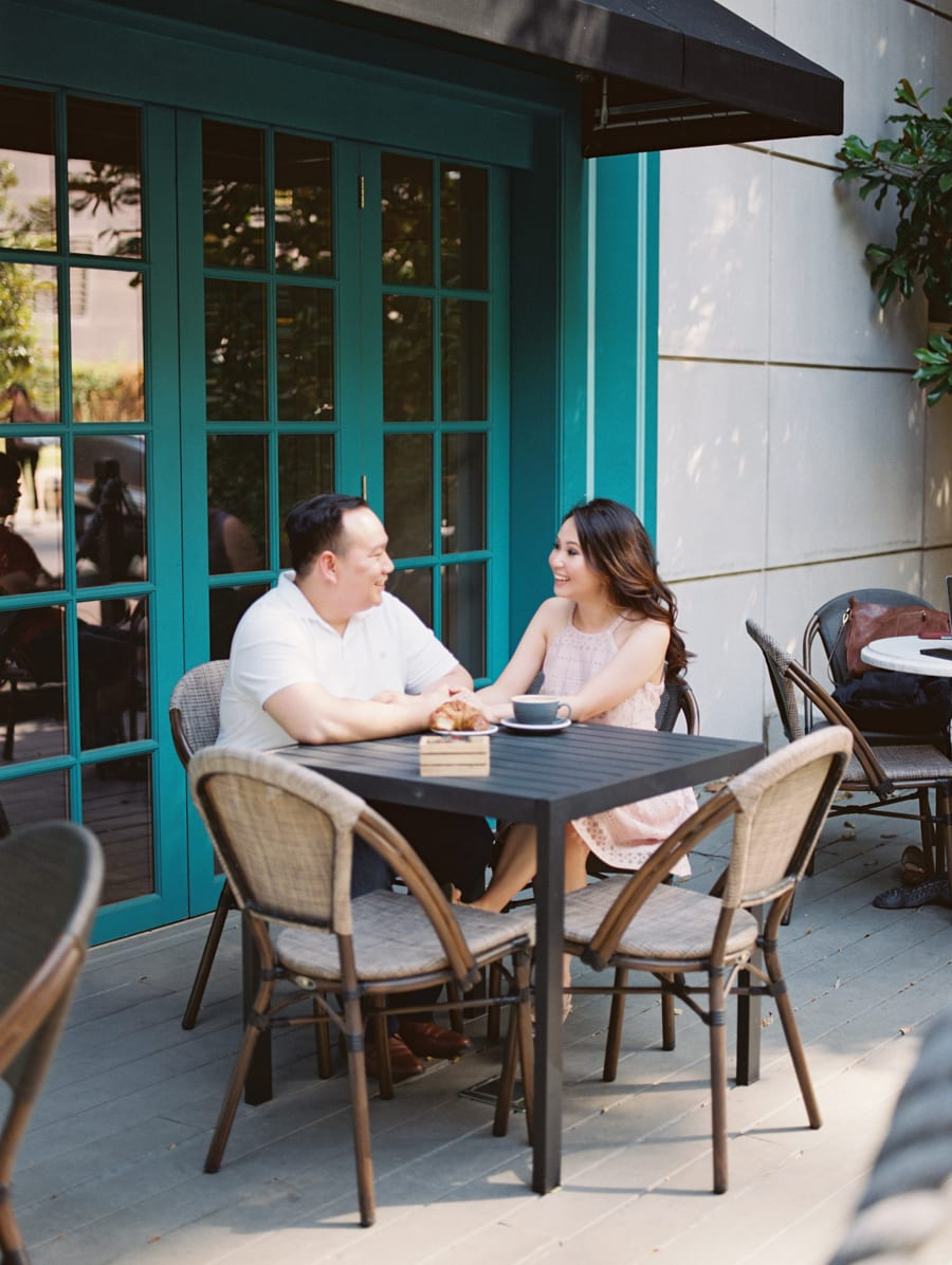 Dallas Coffee Shop Engagement Session