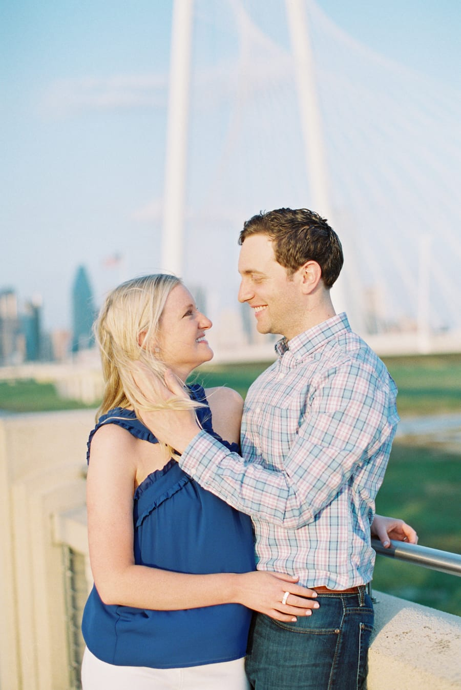 Margaret Hunt Hill Bridge Engagement Session